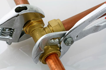 Gas line leak repair